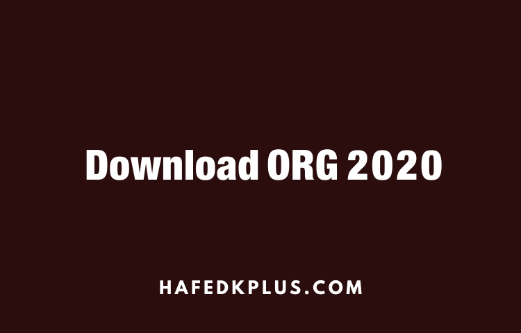 Download ORG 2020