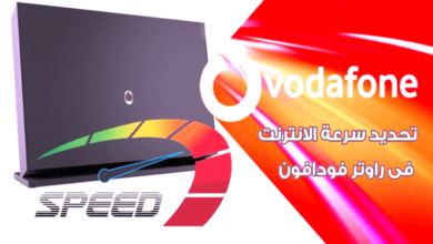 Determine the internet speed from the router vodafone